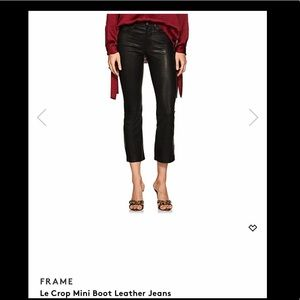 FRAME Leather Pants, Size 30